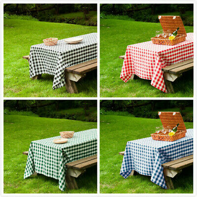 60x102 in. Rect Polyester Tablecloth Gingham Checkered Party Picnic Restaurant ](Picnic Tablecloth)
