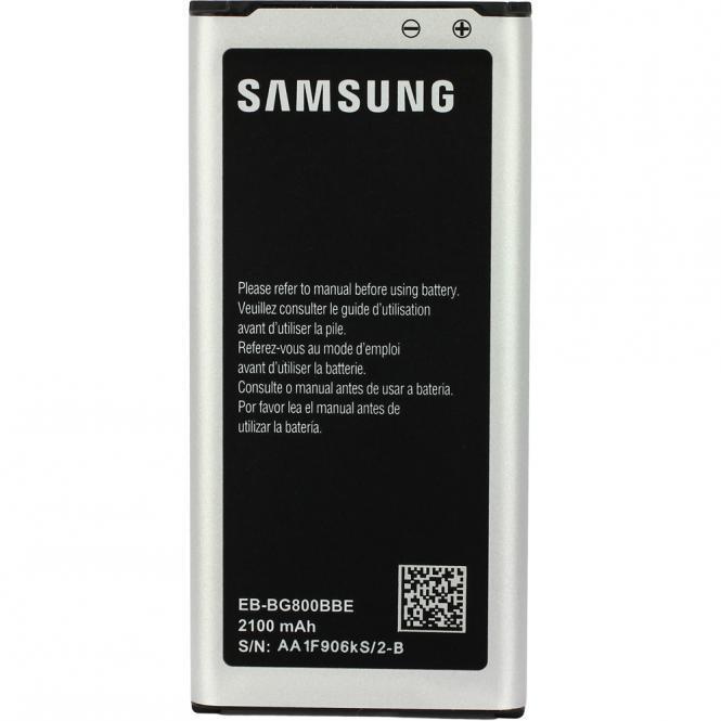 ORIGINAL SAMSUNG EB-BG800 AKKU ACCU BATTERY -- Galaxy S5 mini SM-G800 --- NEU