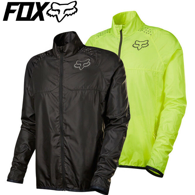 Fox Ranger Lightweight Jacket - Fluro Yellow, Black - Sizes