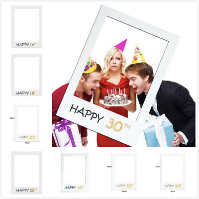 /40/50 Birthday Frame Photo Booth Props Photo Picture Frame (Happy Birthday Photo Frames)