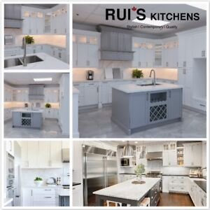 Solid White/Grey Shaker Kitchen Cabinet Warehouse Direct Sale
