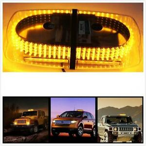 Led beacon light ebay 240 leds light bar roof top emergency beacon warning flash strobe yellow amber aloadofball Choice Image