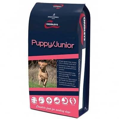 2 x 12kg Chudleys Puppy / Junior 12Kg - Complete Dog Food only £22.25each!!!!