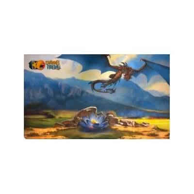 MTG Magic The Gathering Channel Fireball Playmat Black Lotus and Dragon