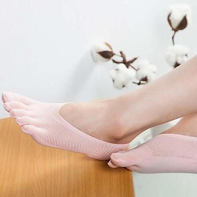 Women Five Fingers Separate Toe Socks Cotton Breathable Invisible Ankle Low Cut