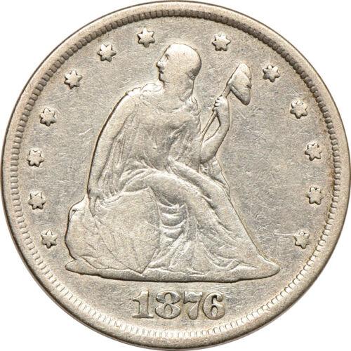 1876 Twenty Cent Piece, Very Fine (Cleaned), 20c C00050417