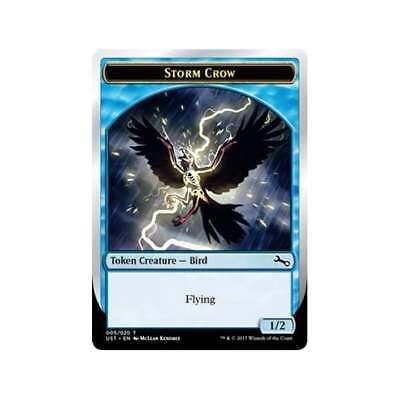 Magic The Gathering MTG Unstable FOIL Storm Crow Token x 4