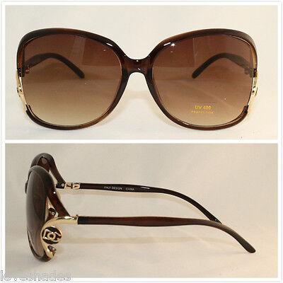 Hot Designer Sunglasses - DG New Fashion Designer Sunglasses Shades Eyewear Big Square Hot Womens Brown