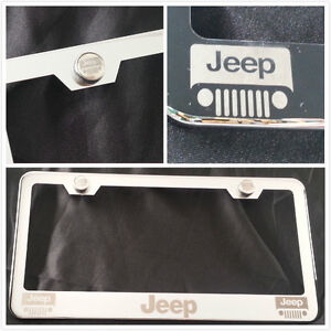 laser engraved for jeep chrome license plate frame brush silver w. Cars Review. Best American Auto & Cars Review