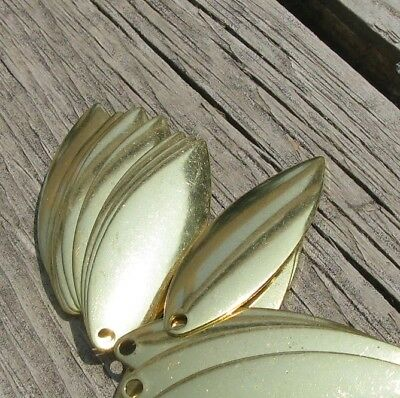 Willow Leaf Spinner Blades New Other Hammered Nickel 20 Count Size 4