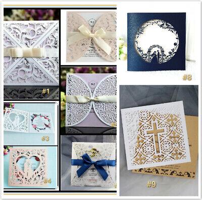 Bridal Party Invitations (20pcs Laser Cut Party Invitations Cards Birthday Wedding Engagement Bridal)