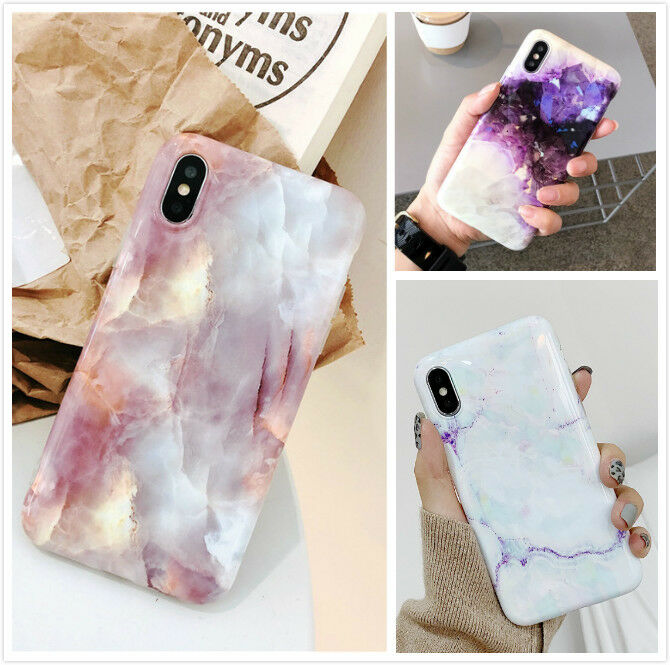 Slim Fit Marble Pattern Case Soft TPU Protective Phone Cover