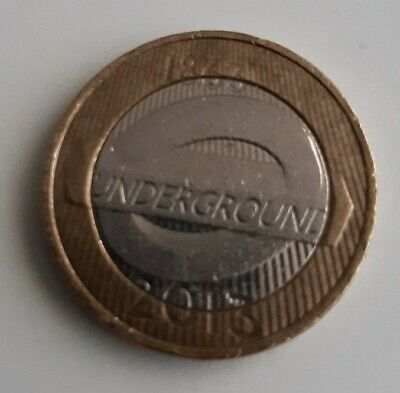 2013 Circulated London Underground Roundel £2 Two Pound Coin