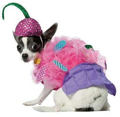 Costumes With Dogs (Rasta Imposta Cupcake Pink Icing With Sprinkles Dog Costume)