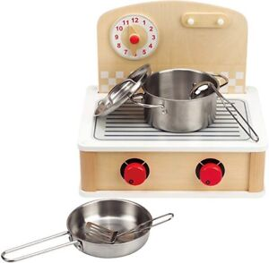 Hape Tabletop Cook and Grill Kid's Wooden Kitchen