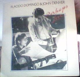 placido domingo and john denver,vinyl 45,perhaps love.