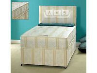 **TOP SELLER**BRAND NEW 3ft SINGLE DIVAN BED BASE WITH CROWN EXTRA-FIRM ORTHOPAEDIC MATTRESS