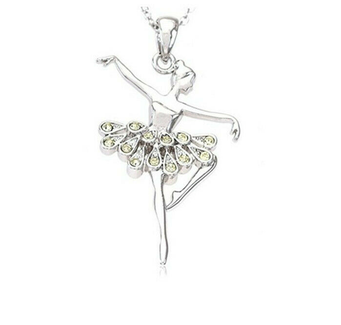 Shell Pendant Russian hand made GICLEE STYLE BALLET White tutu Ballerina GIFT