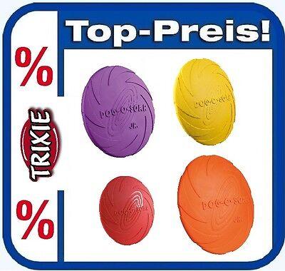 TRIXIE Dog Disc Naturgummi Ø 15 cm verschiedene Farben Frisbee