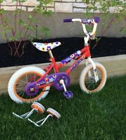 "Little girls bike w/ 14"" wheels."