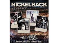 Nickelback tickets at 3Arena Dublin, Sun, 9 Oct 2016