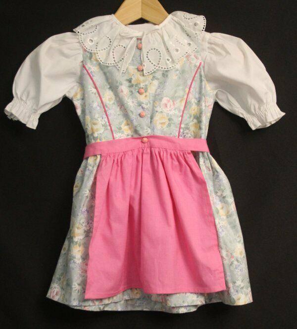 Uta Trachten Girl Dirndl Dress Top Apron Girl 104 cm/ 4 Traditional German