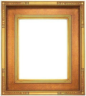 20 X 24 STANDARD PICTURE FRAME BRONZED GOLD FINISH CARVED 3 3/4