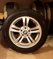 Set of 4 OEM BMW X3 wheels and winter tires