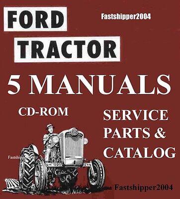 Ford 600 800 Tractors Shop Service Manuals Parts Catalog Owner 1953-1964 Cd Dvd