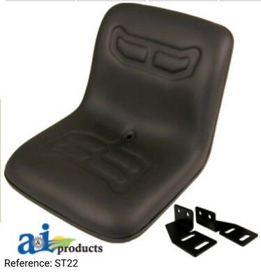 Compact Tractor Flip Seat With Brackets For Ford Nh 1510 1710 1910 Black Vinyl