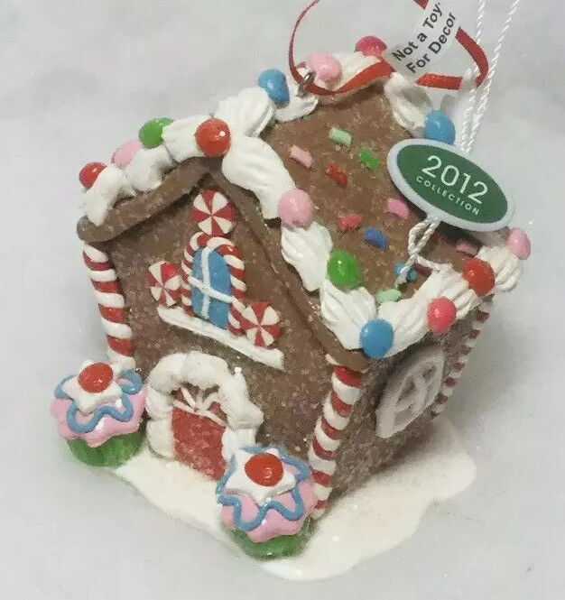 Gingerbread House decorated Christmas Tree ornament