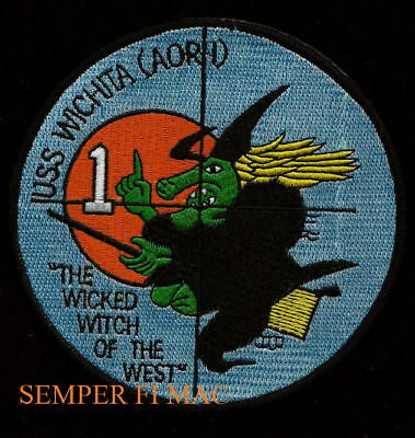 HALLOWEEN SEA WITCH USS WICHITA AOR-1 US NAVY HAT PATCH COSTUME ](Us Navy Halloween Costumes)