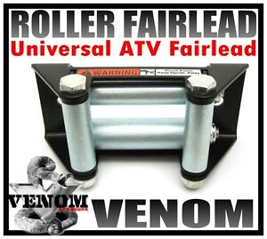 NEW! UNIVERSAL HEAVY DUTY ATV ROLLER FAIRLEAD FOR WINCH
