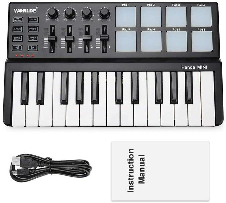 USB MIDI Keyboard Controller Synthesizer Beat Machine 8 Drum Pads Pro Software
