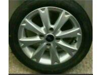 """Ford Fiesta 15"""" alloy wheel spoked with tyre 2007-2013 4x108 zetec titanium"""