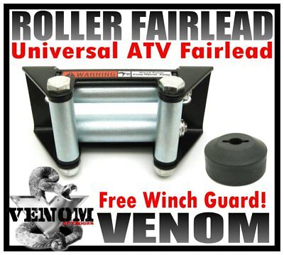 - UNIVERSAL HEAVY DUTY ATV ROLLER FAIRLEAD FOR WINCH FREE WINCH GUARD