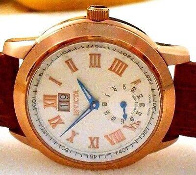 Mint Rare INVICTA 9978 Men's Vintage Big Date French Ebauche Quartz Watch w/Box