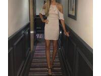 Lipsy London champagne dress