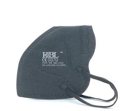 10x FFP2 Maske Mundschutz zertifiziert 4 lagig Atemschutz Masken ✅ CE0370 black