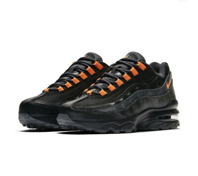 Nike Air Max 95 SE BG Youth AR0010-001 Black/Orange UK 5 EU 38 US 5.5Y 24cm New