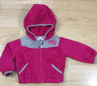 The North Face Full Zip Hoodie Baby Toddler Size 0-3 Months Pink And Gray ()