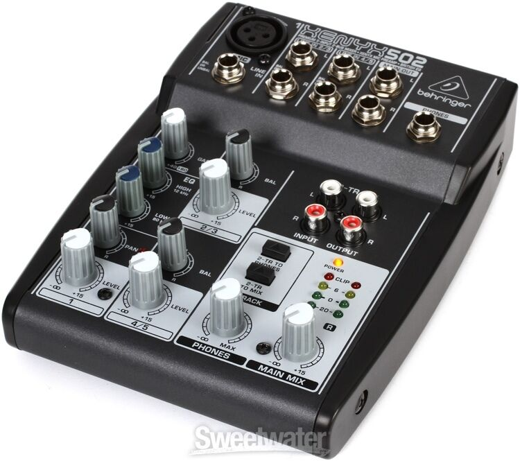 new behringer xenyx 502 5 channel compact audio mixer ebay. Black Bedroom Furniture Sets. Home Design Ideas