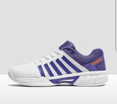 K-Swiss Womens Express Light Tennis Shoes -  2017 - White Purple UK 4, with BOX