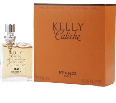 Pure Perfume Refill (Hermes Kelly Caleche 7.5 Ml Pure Perfume Spray Refill Brand New In A Sealed Box)