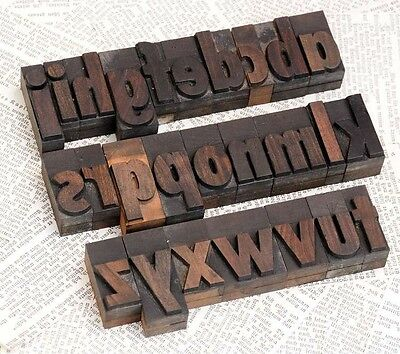 A-z Alphabet 1.77 Letterpress Wooden Printing Blocks Wood Type Character Print