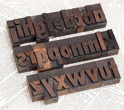 A-z Alphabet 1.77 Letterpress Wooden Printing Blocks Wood Type Character Print