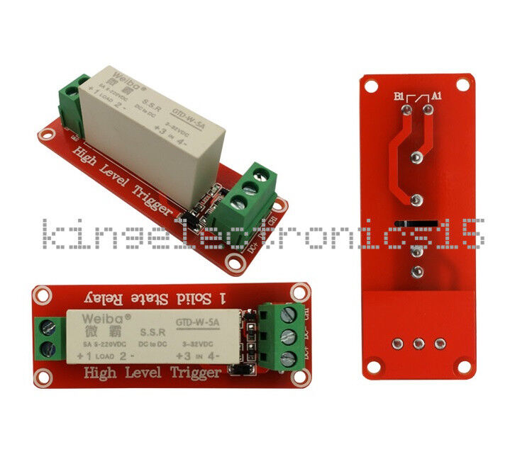 1PCS 1Channel SSR Solid State Relay High-low Trigger 5A 3-32V For Arduino Uno R3
