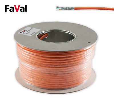 100 m CAT.7 Verlegekabel Gigabit Netzwerkkabel KUPFER LAN 1000Mhz S/FTP6 5 10Gbi