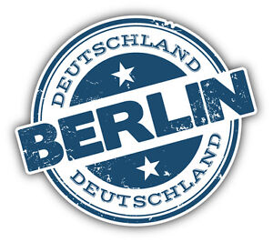 berlin city germany grunge travel stamp car bumper sticker decal 5 x 4. Black Bedroom Furniture Sets. Home Design Ideas