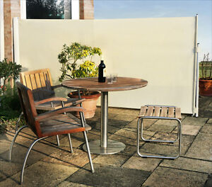 Patio Wind Break Side Awning Screen 1 58 X 3m Garden